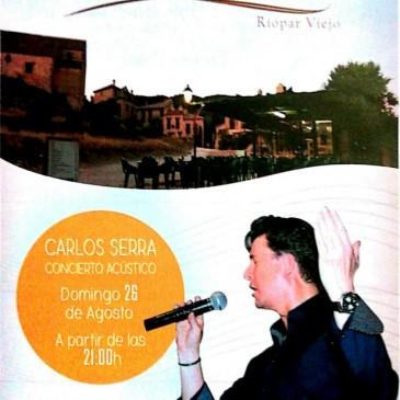 Carlos Serra, concierto acústico.