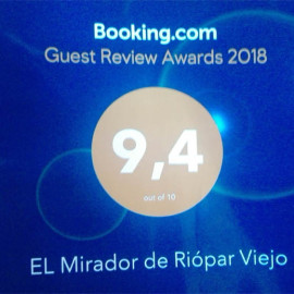 Puntuación 9,4 sobre 10 en Guest Review Awards de Booking.